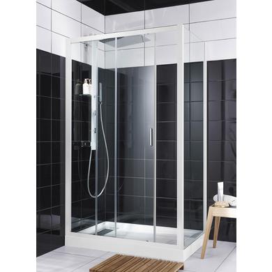 Porte de douche coulissante rubis salle de bains - Porte coulissante lapeyre verre ...