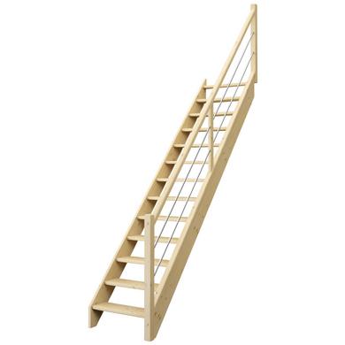 Escalier droit uno sans contremarches escaliers - Escalier droit sans rampe ...
