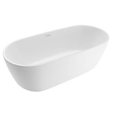 Baignoire droite sublim salle de bains for Longueur standard baignoire