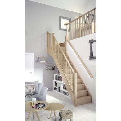 Escalier Bois Tenor Standard Quart Tournant Haut Escaliers