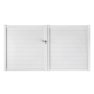 Portail battant PVC ARZAL blanc 140 x 350