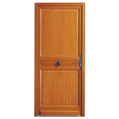 Porte d'entrée ** bois exotique Beaumont à barillet H.200 x l.90 droite