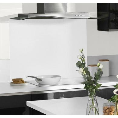 Fond de hotte en verre cuisine - Credence a poser sur carrelage ...