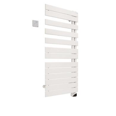 Sèche-serviettes eau chaude FASSANE SPA asym D 809W blanc H.167.6 x l.55