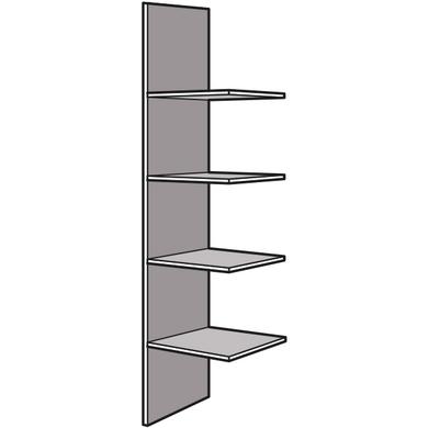 Colonne tablettes angle aménagement ESPACE chêne strié P.50