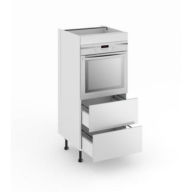 Demi colonne de cuisine pour four avec 2 tiroirs lumio - Colonne cuisine 30 cm ...