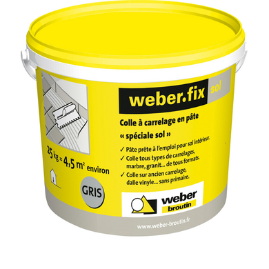 Colle WEBER fix sol gris - 8 kg