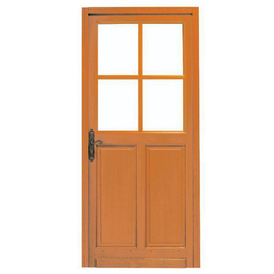 Porte d 39 entr e briare 4 carreaux bois exotique portes for Porte d entree lapeyre
