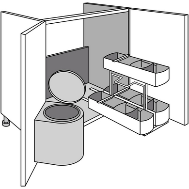 Meuble de cuisine espace entretien urban cuisine Espace dessous meuble cuisine