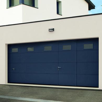 Porte De Garage Montana Sectionnelle Avec Portillon Ext Rieur