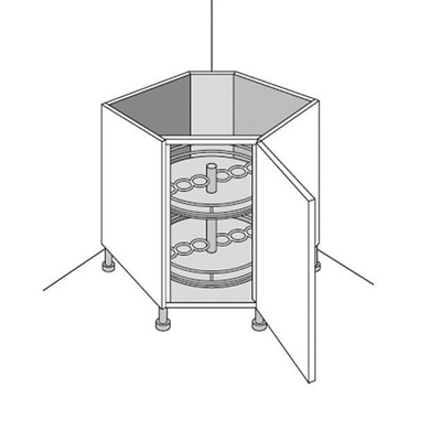 Meuble de cuisine bas rangement en coin origine cuisine for Meuble en coin pour cuisine