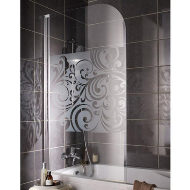 Ecran de baignoire floral salle de bains - Separation de baignoire ...