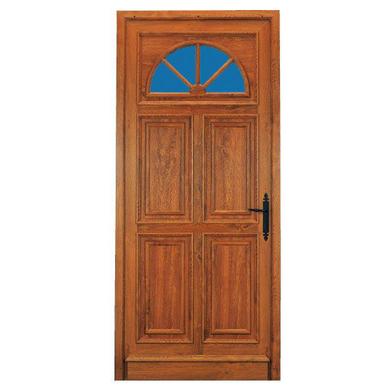 Porte d 39 entr e chenonceau pvc d cor bois portes for Largeur porte d entree standard
