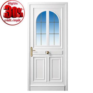 Porte d 39 entr e beauharnais pvc portes for Largeur porte d entree standard
