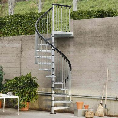 Escalier Spiro galvanisé 13 marches D.160