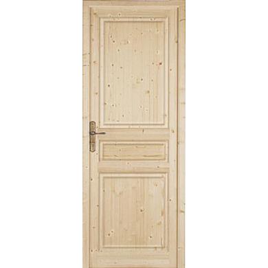 Bloc-porte Sapin massif CLASSIQUE Huisserie 72 - H.211 x l.73 gauche