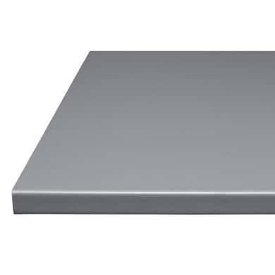 Plan de travail gris argent stratifi 28 mm cuisine for Plan de travail cuisine profondeur 80 cm