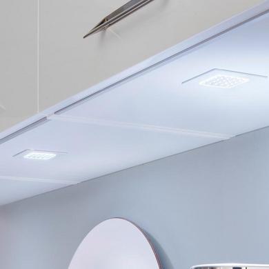 Spot LED carré Blanc à encastrer avec transformateur 12V