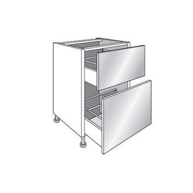 Meuble de cuisine bas range casseroles avec 2 tiroirs Meuble avec plusieurs tiroirs