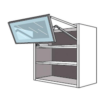 Haut pliant 2 portes 1 pleine/1 vitrée ORIGINE gris anthracite H.70 x l.80 xP.35