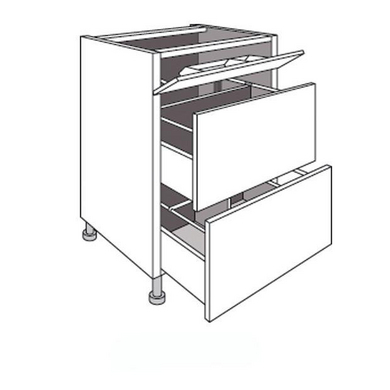 Meuble de cuisine sous vier 2 tiroirs urban cuisine for Taille standard meuble cuisine