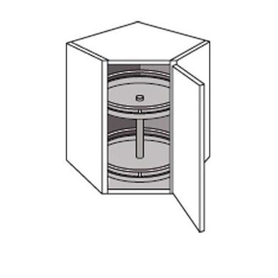 Meuble de cuisine haut d 39 angle avec 2 plateaux twist cuisine for Meuble d angle cuisine but