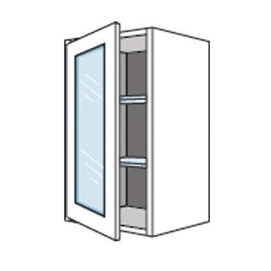 Meuble de cuisine haut avec 1 porte vitr e origine cuisine for Meuble haut porte vitree
