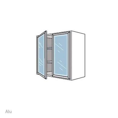 meuble de cuisine haut avec 2 portes 2 tablettes en verre cm cuisine. Black Bedroom Furniture Sets. Home Design Ideas