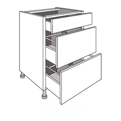 meuble de cuisine 2 tirois range casseroles et 1 tiroir twist cuisine. Black Bedroom Furniture Sets. Home Design Ideas