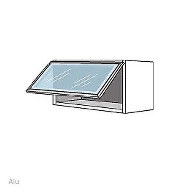 Haut 1 abattant vitré INOX H.35 x l.100 x P.35
