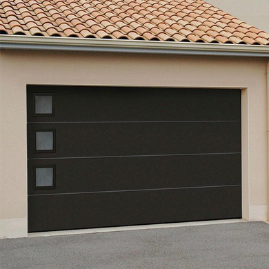 porte de garage sectionnelle montana en kit manuelle ext rieur jardin. Black Bedroom Furniture Sets. Home Design Ideas