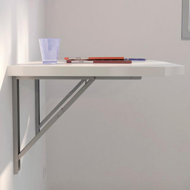 Plan de travail mural rabattable table de lit for Table de cuisine pliante leroy merlin