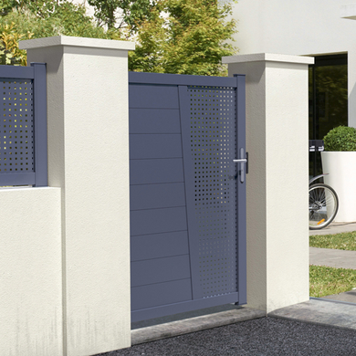 Portillons ext rieur lapeyre for Porte metallique exterieur
