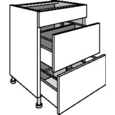 Meuble de cuisine sous vier 1 faux tiroir cuisine - Rangement sous evier ikea ...