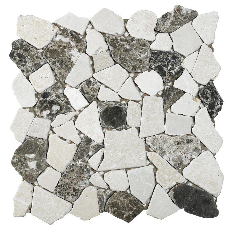 Carrelage plaque de galets vermont 30 x 30 cm sols murs for Carrelage galets