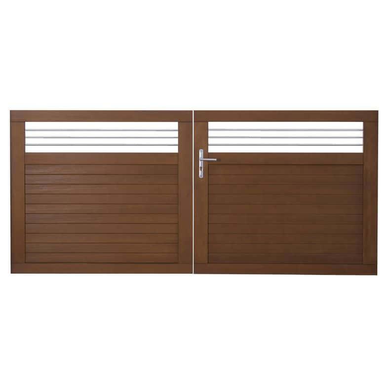 portail exterieur pvc portail en pvc ajour ouverture. Black Bedroom Furniture Sets. Home Design Ideas