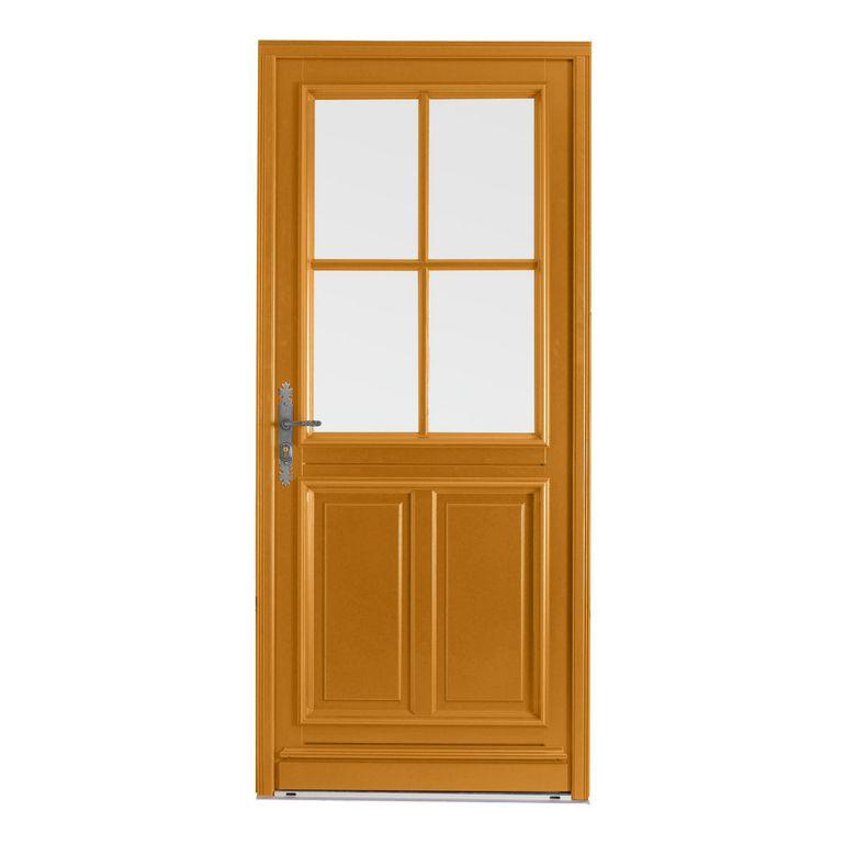 Porte d 39 entr e chaumont bois exotique menuis portes - Repeindre une porte d entree en bois ...