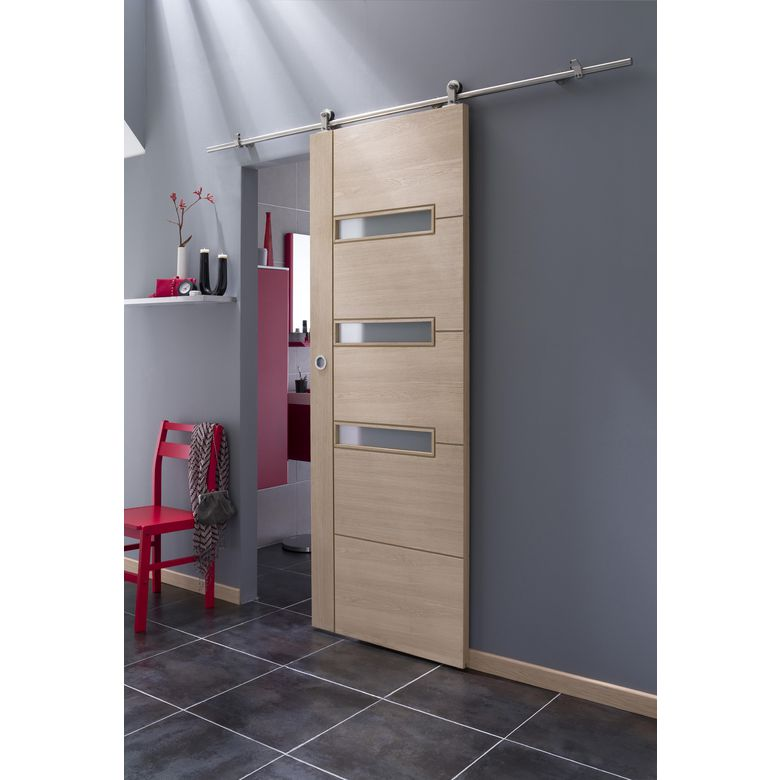 syst me coulissant manhattan en applique pour porte en bois portes. Black Bedroom Furniture Sets. Home Design Ideas