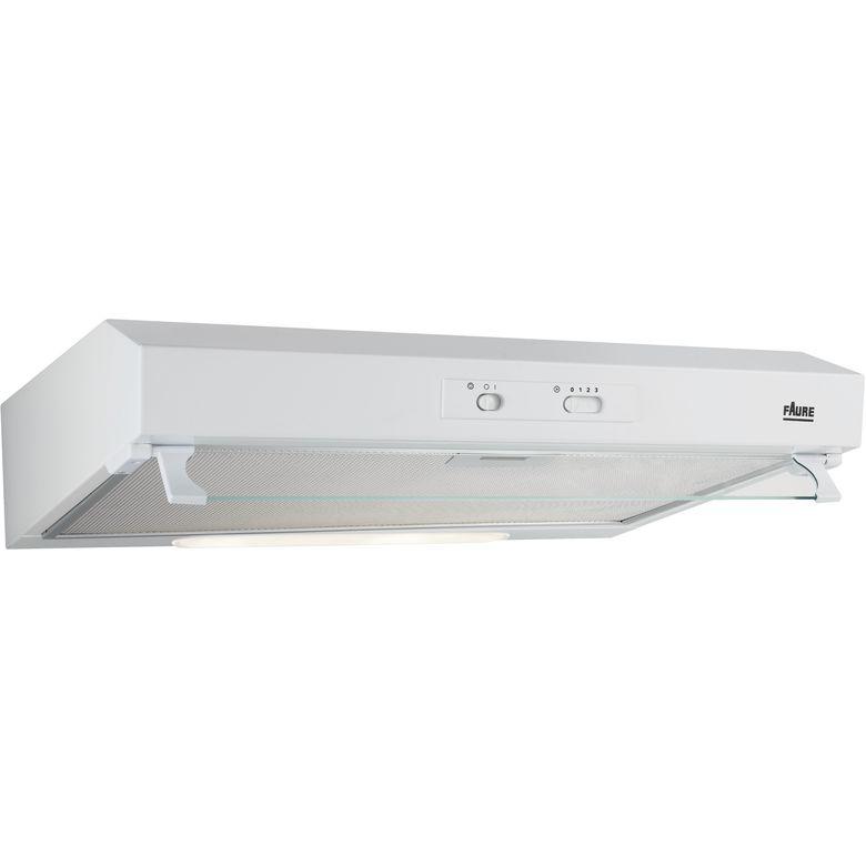 Hotte visière blanc Faure FHT6137W l.60