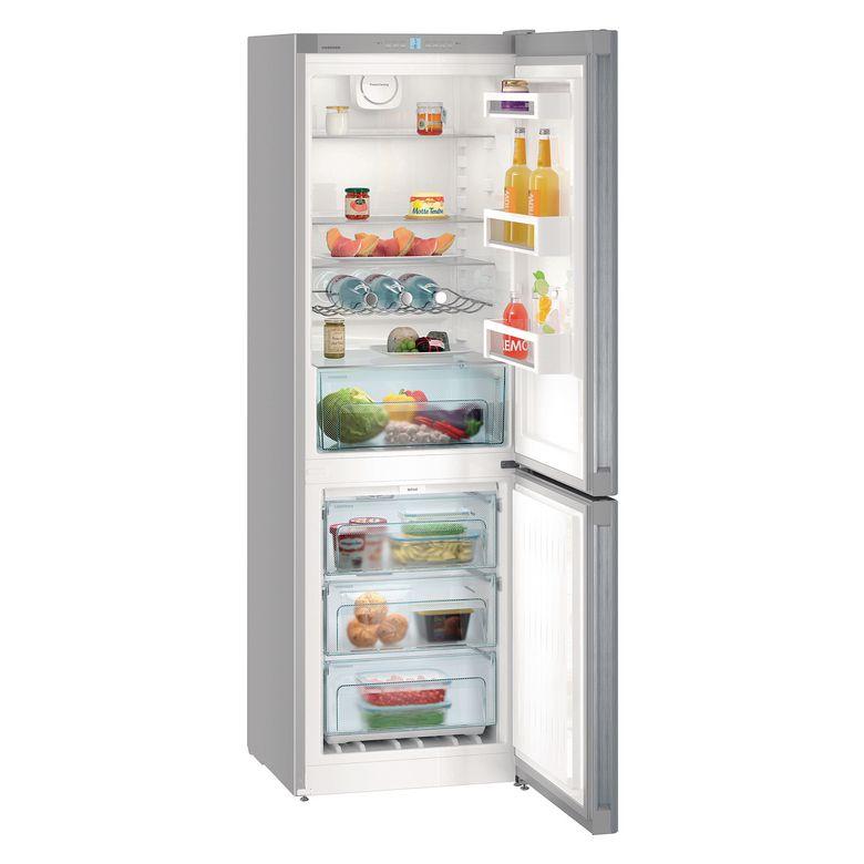 Type d'installation : Pose libre Type d'appareil : Réfrigérateur combiné Conception de l'appareil : Congélateur en bas Finition : Look inox Volume utile total : 304 Litres Classe climatique : SN-T Classe énergétique : A++ Niveau sonore : 42 dB(A) Type d'a