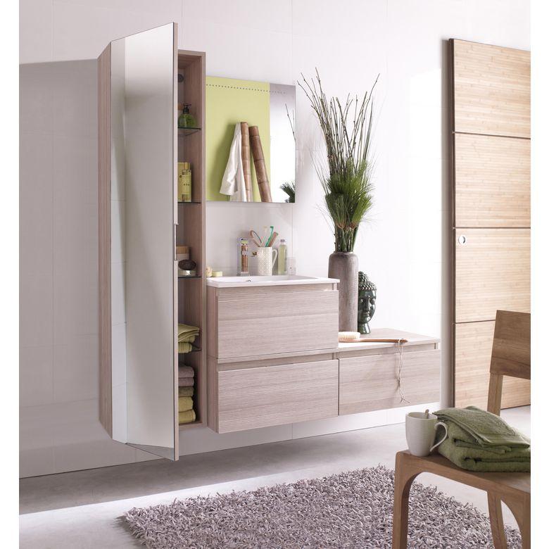 Colonne avec miroir l 40 cm evasion bain for Miroir largeur 40 cm