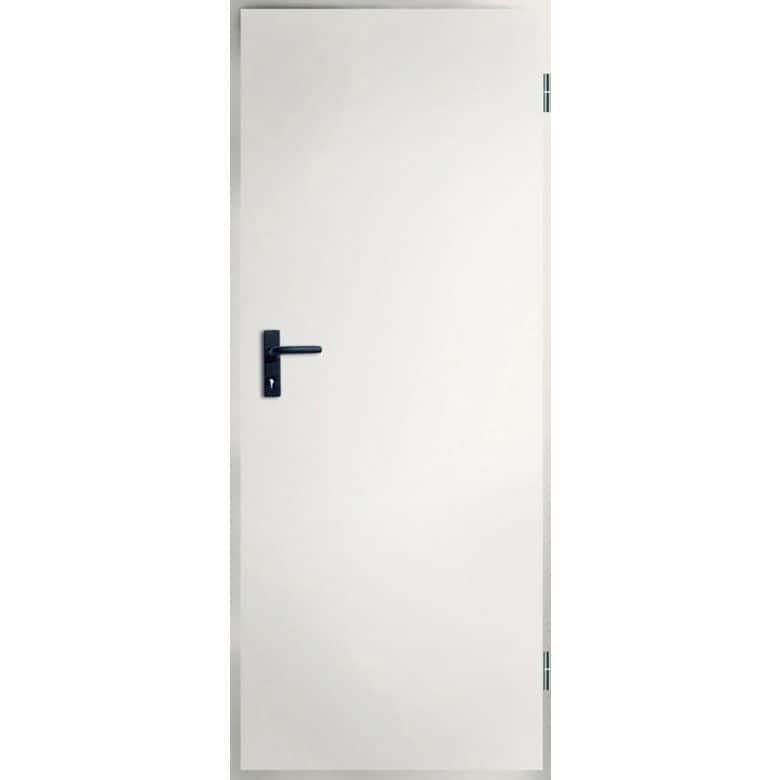 Porte de service isolante m tallique double paroi en poussant portes - Largeur double porte ...