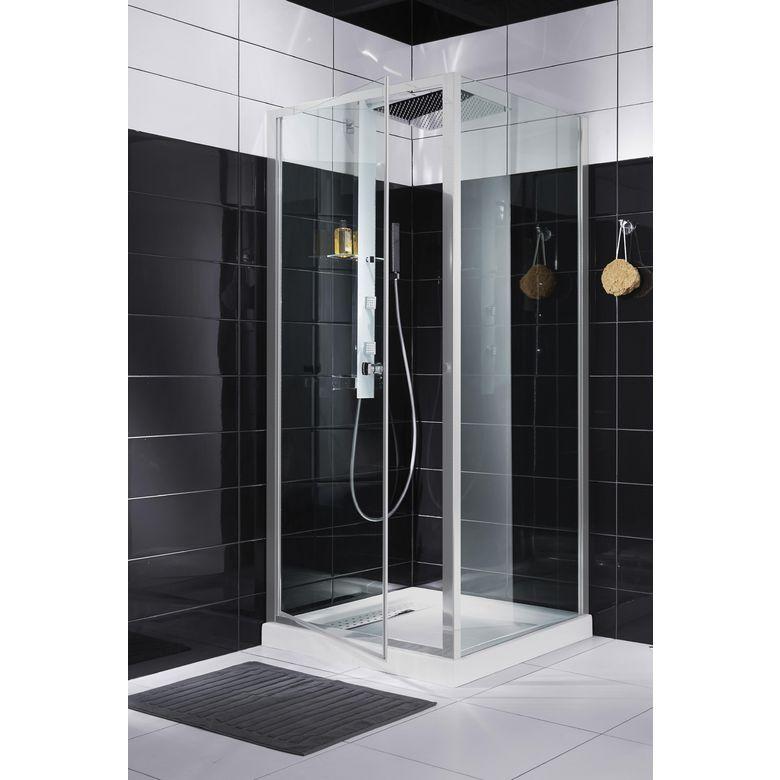 Acc s de face par porte pivotante rubis salle de bains for Lapeyre porte de douche