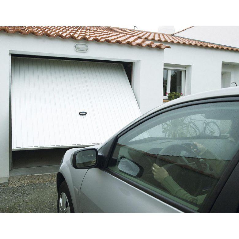 Porte de garage pro access basculante d bordante ext rieur jardin - Lapeyre porte de garage ...
