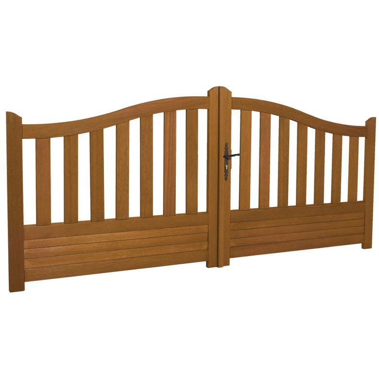 bien choisir un portail bois pas cher battants conseils. Black Bedroom Furniture Sets. Home Design Ideas