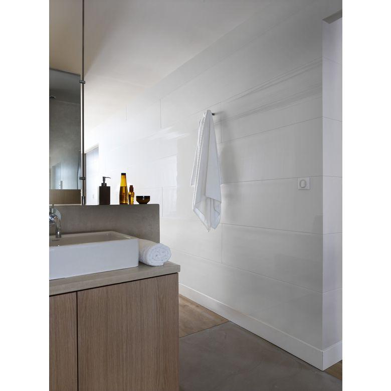 Lambris PVC Attitude blanc brillant  Salle de bains
