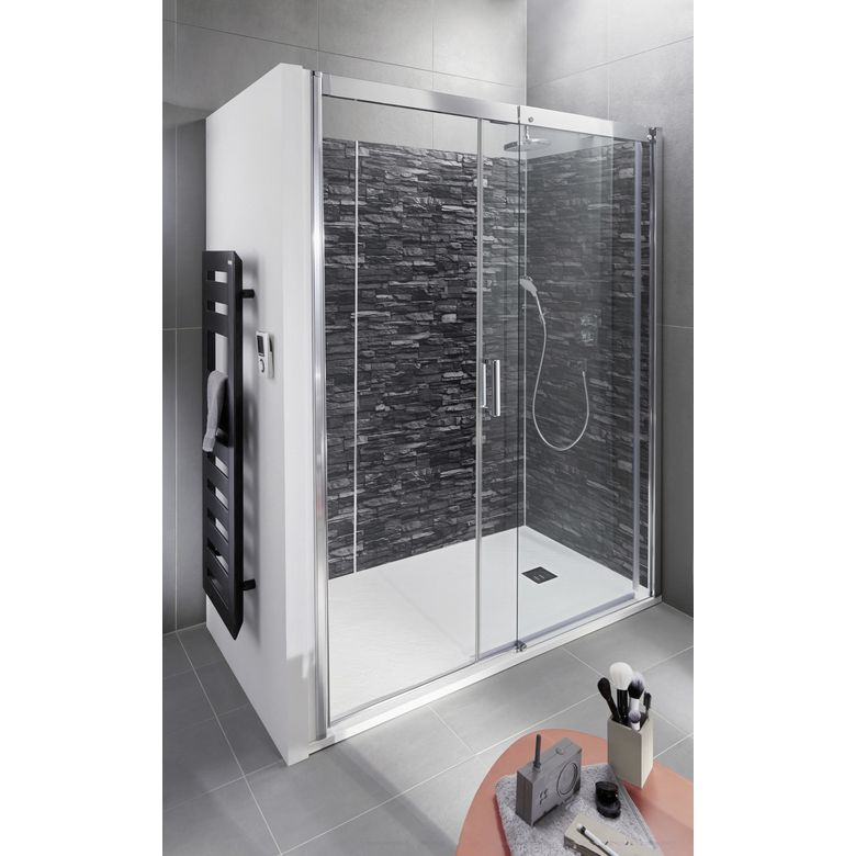 porte de douche coulissante version droite access salle. Black Bedroom Furniture Sets. Home Design Ideas