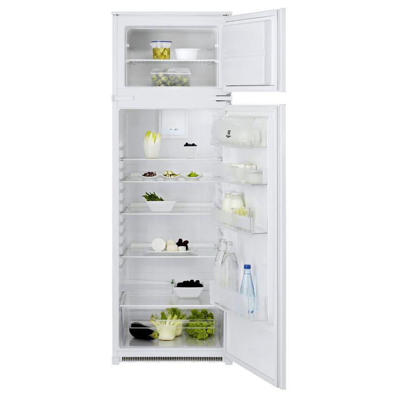 - Type d'installation : Intégrable - Type d'appareil : Réfrigérateur 2 portes - Conception de l'appareil : Congélateur en haut - Volume utile total : 268 Litres - Classe climatique : SN - T - Classe énergétique : A+ - Niveau sonore : 36 dB(A) - Type d'ala
