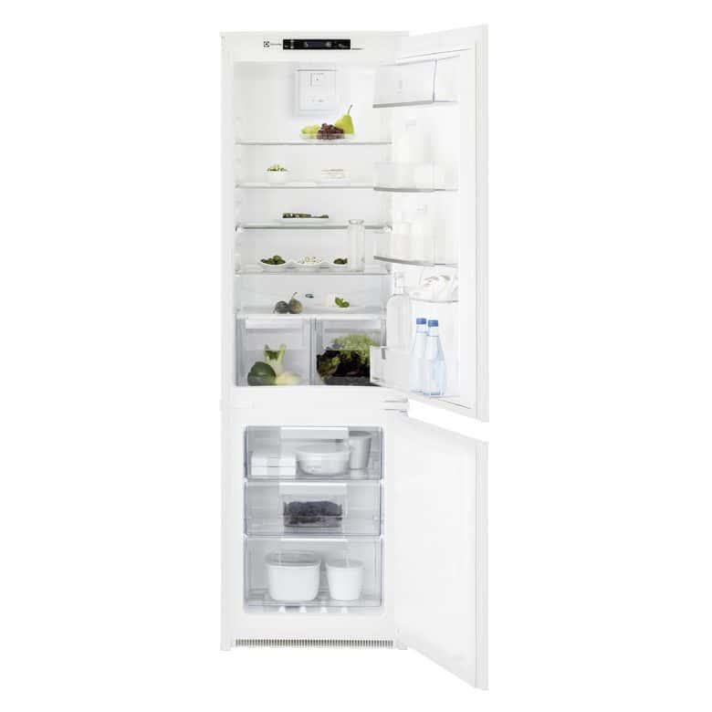 - Réfrigérateur/ congélateur 4* - Classe A+ - Classe SN-N-ST-T - Combiné - Volume : 263L, 200L (réfrigérateur), 63L (congélateur) - 39 dB(A) - Froid no Frost pour le congélateur et froid brassé pour le réfrigérateur - Dégivrage automatique réfrigérateur -