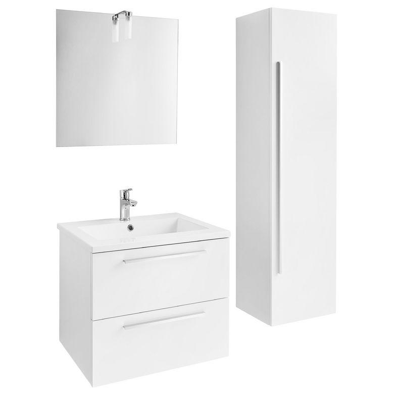 Ensemble meuble de salle de bains plan r sine sans - Colonne salle de bain 60 cm ...
